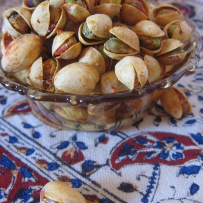 {Lemon & Saffron Roasted Pistachios}