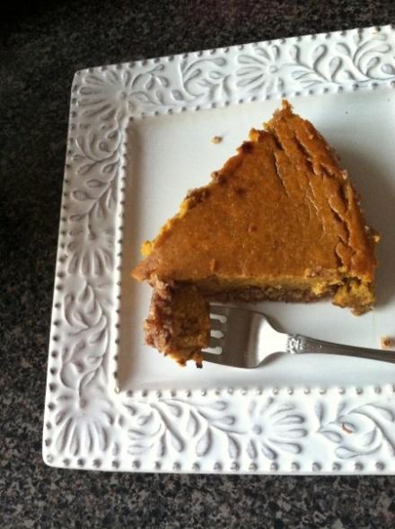 {gluten free pumpkin pie}
