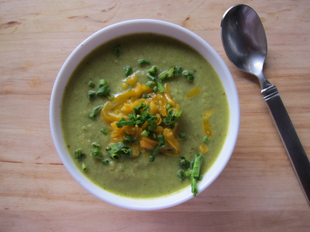 {broccoli pesto soup}