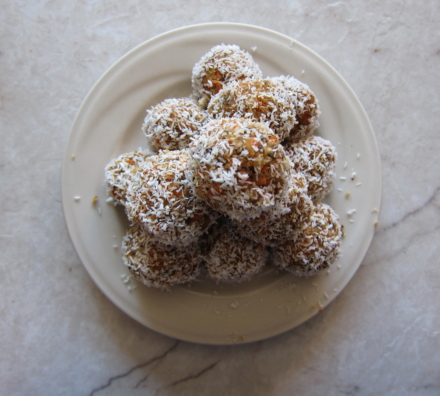 {no-bake carrot cake truffles}