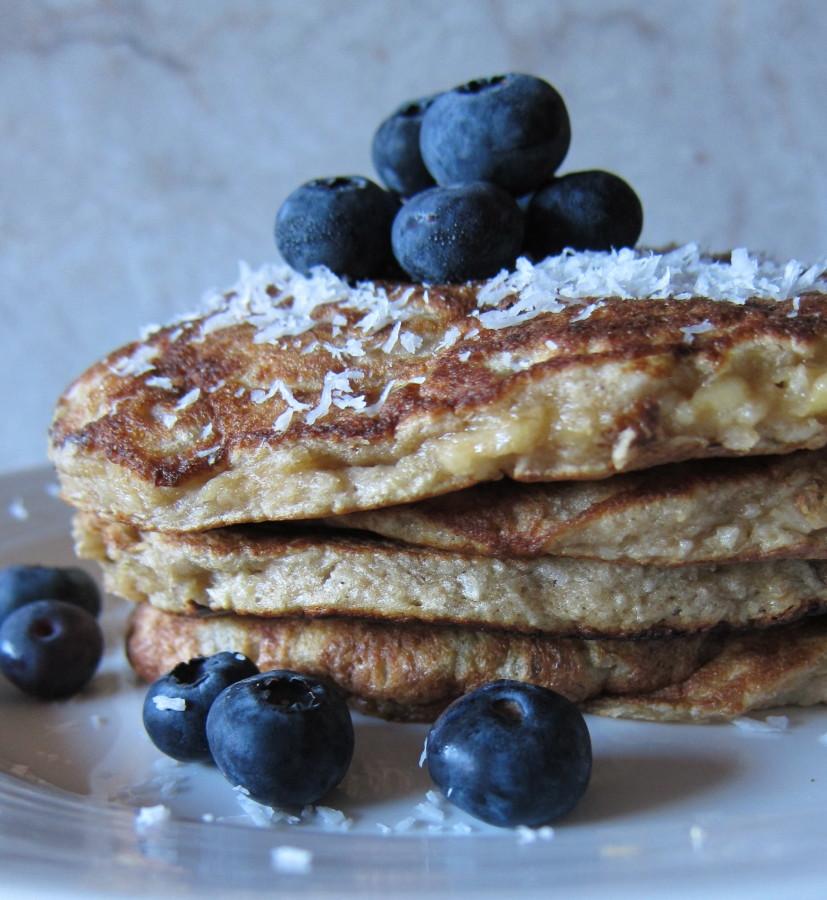 coconut macaroon pancakes}