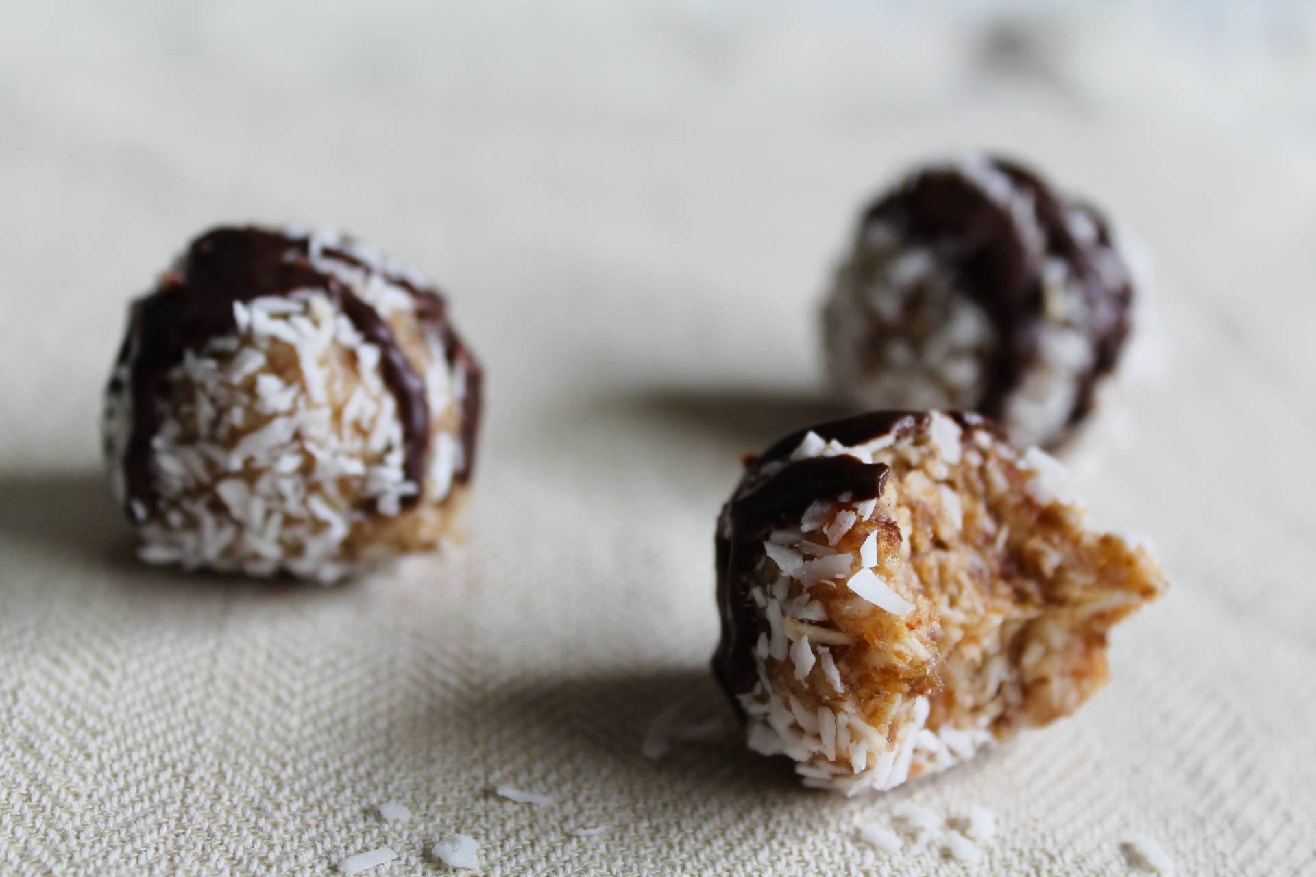 coconut chocolate date balls
