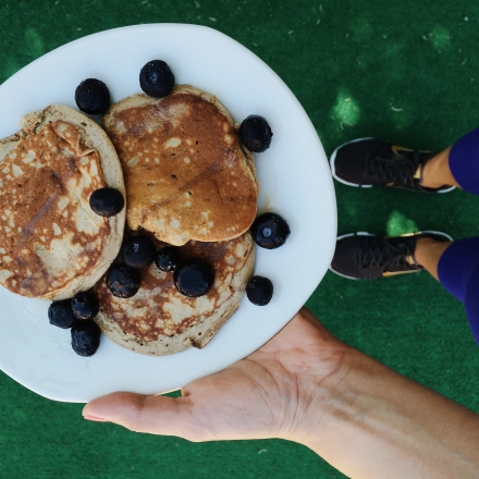 {post workout paleo pancakes}