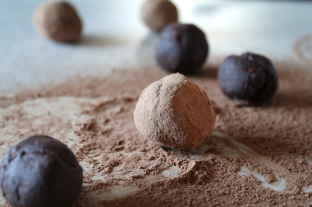 {dark chocolate orange vegan truffles}