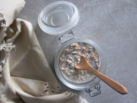 {rosewater cardamom lazy oats}