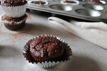 {paleo chocolate banana muffins}