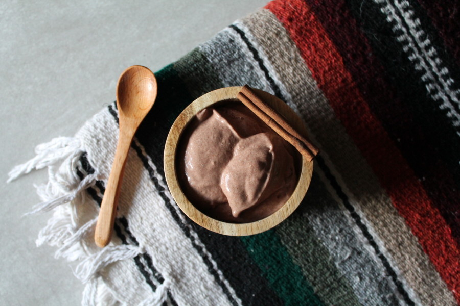 Mexican hot chocolate banana ice cream