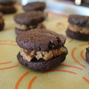chocolate peanut butter sandwich cookie