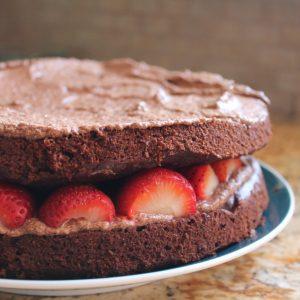 date sweetened chocolate cake