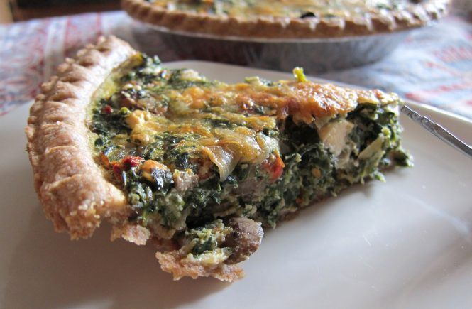 spinach mushroom quiche 1