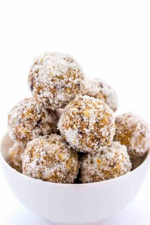 date sweetened protein balls