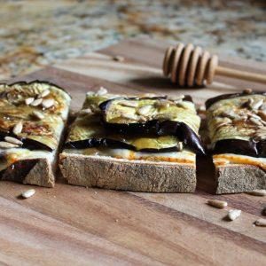 roasted eggplant tartine