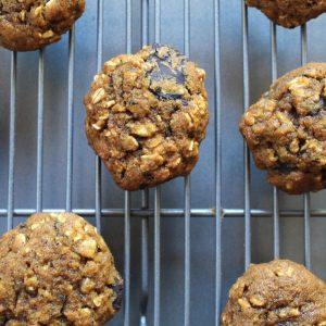 oatmeal pumpkin dark chocolate cookies